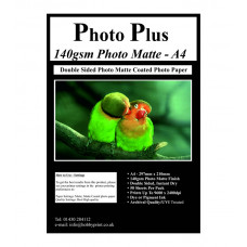 PhotoPlus 140gsm Double Sided A4 Matte Coated Paper, 50 Sheets.