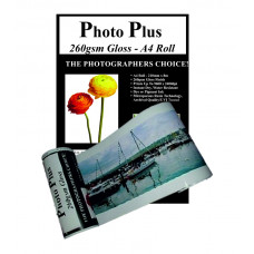 PhotoPlus Photo Paper A4 Panoramic Premium Gloss Rolls 260gsm, 210mm x 8m